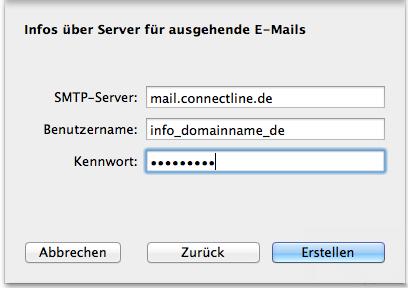Apple Mail einrichten 2