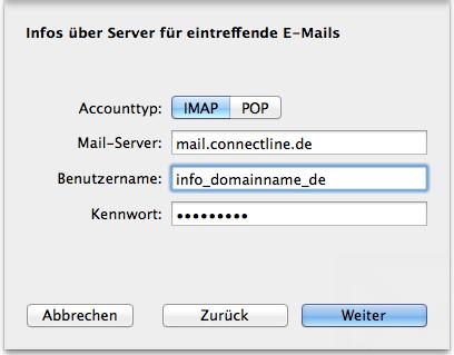 Apple Mail einrichten 3