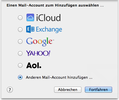 Neuer Account Mail 1