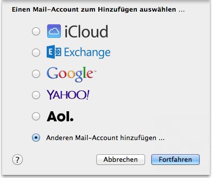 Neuer Account Mail 1