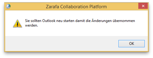 Outlook Zarafa 7